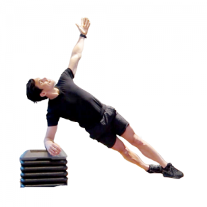 hand elevated side plank